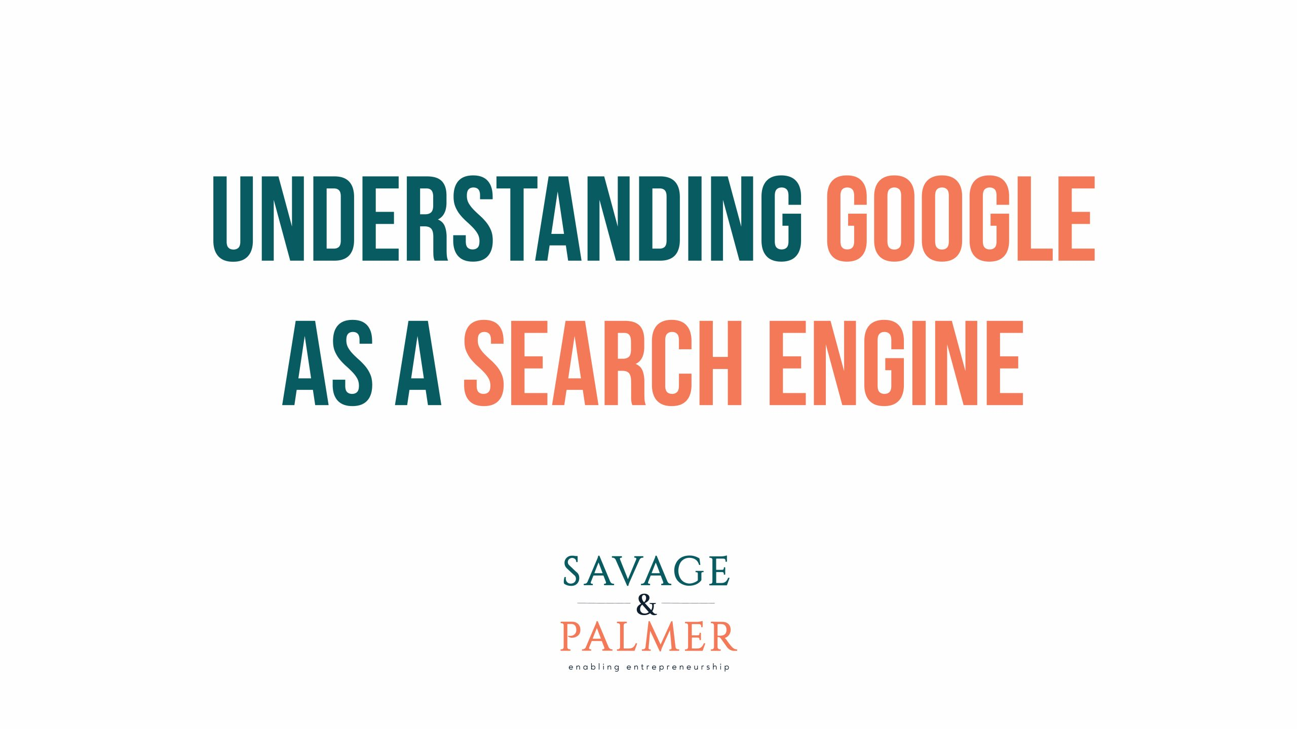 google as a search engine